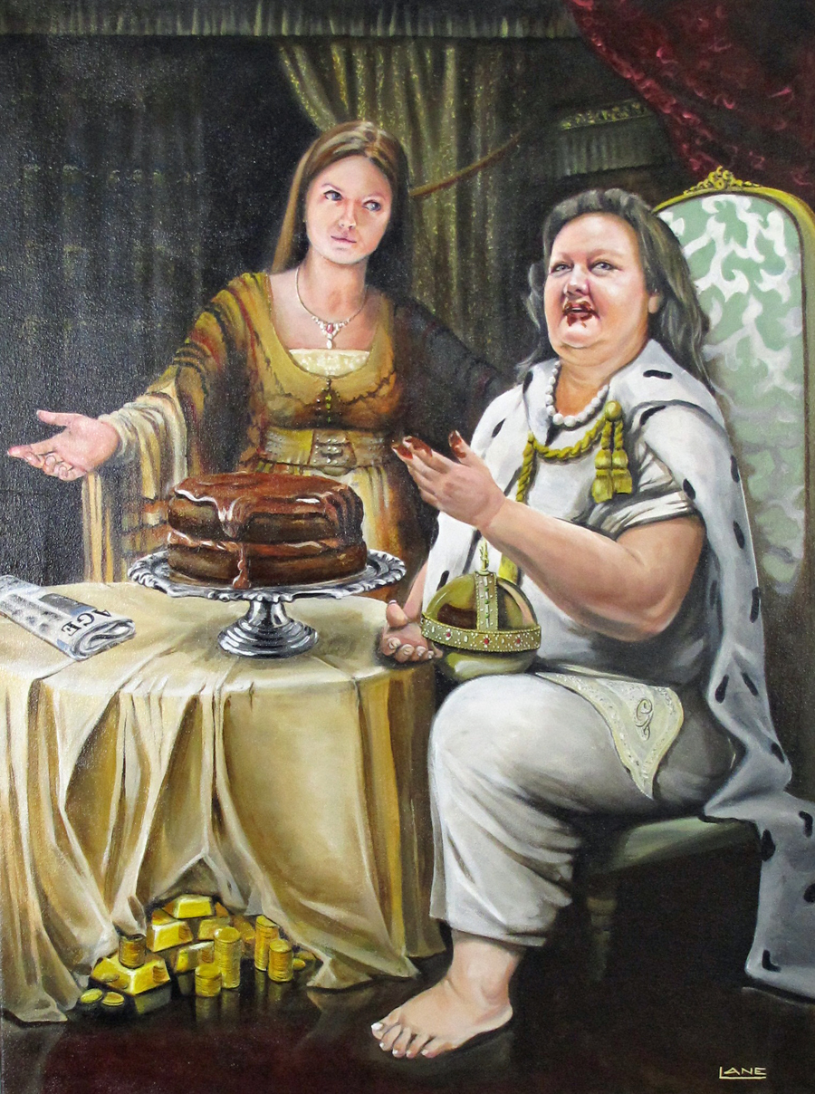PICTURE OF THE DAY: Gina Rinehart is an oil painting