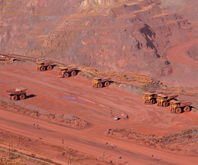 Iron ore price enters free fall