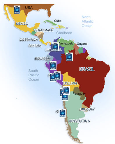 Focus on latin American mining industry - map