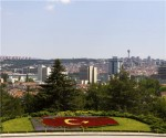 turkey city, lush setting and floral flag 333