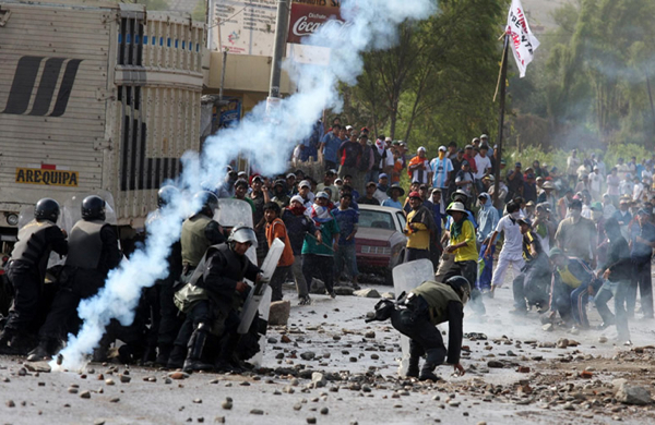 One killed at protests against Tia Maria copper project in Peru