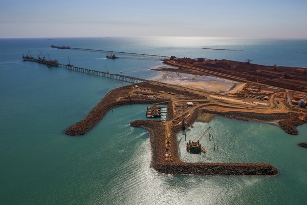 Rio Tinto iron ore output up again, but exports fall