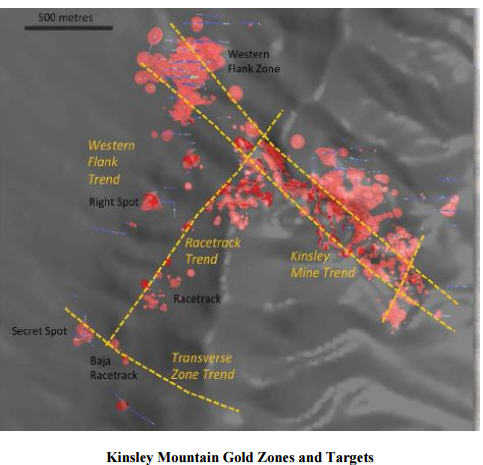 Mercenary alert - Kinsley Mountain Gold Zones and Targets