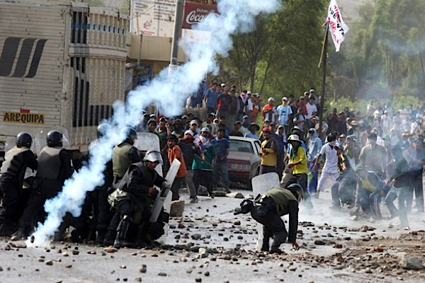 State of emergency in Peru as anti-mining violence leaves 4 dead, dozens arrested