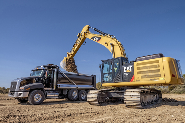 This is what the CAT 336F L XE hybrid excavator looks like