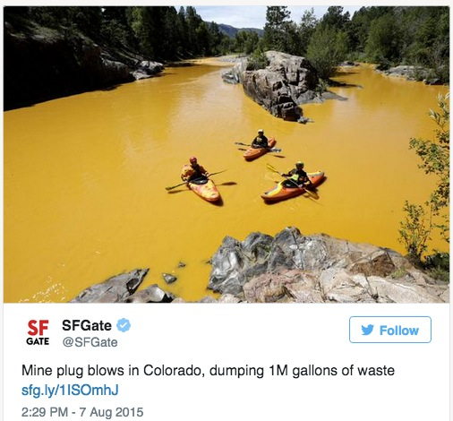EPA's blows it — causes massive mine wastewater spill at Colorado rivers