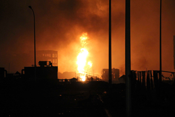 Huge blasts at Chinese port disrupts iron ore, oil shipments