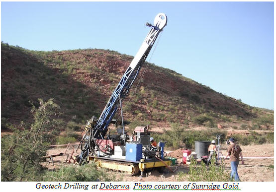 Geotech Drilling at Debarwa.
