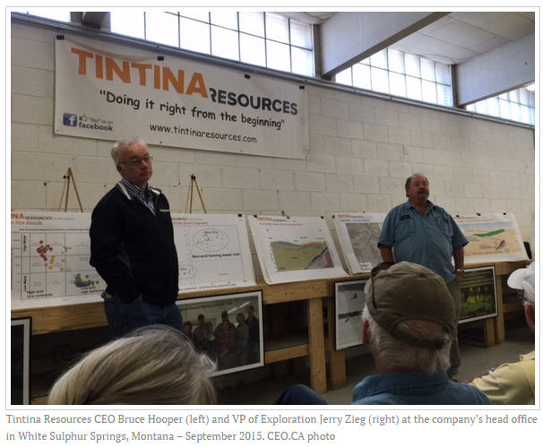 Tintina Resources CEO Bruce Hooper and VP of Exploration Jerry Zieg