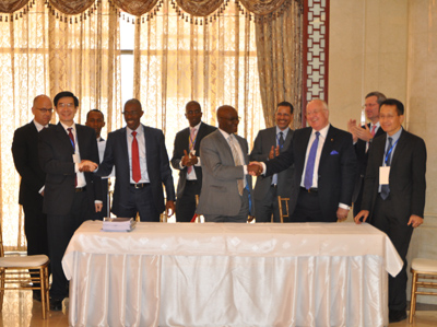 Simandou investment framework signing ceremony May 2014