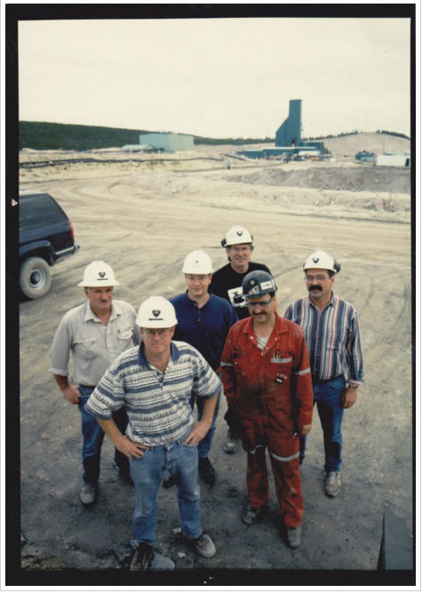 McArthur River prior to entering production around 1998. Doug Beattie is pictured at the front.