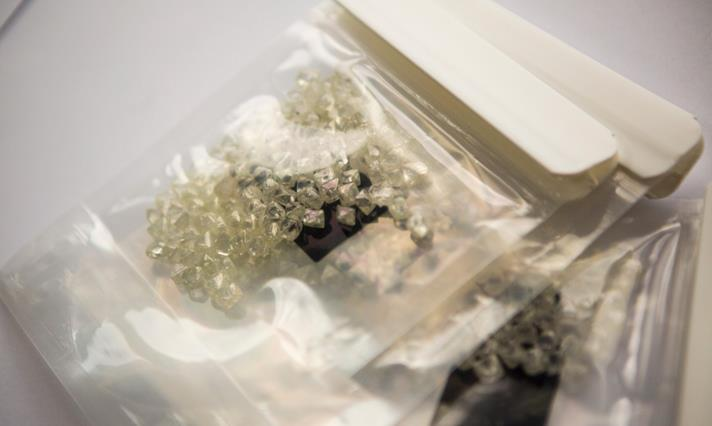 De Beers rough diamond parcel. Source: De Beers Group.