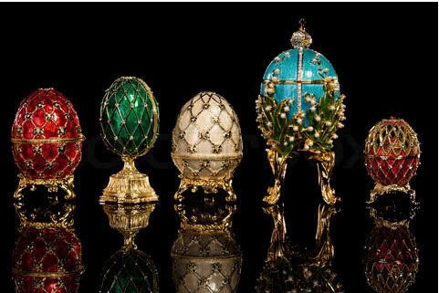 Follow the yellow brick road - famous Faberge eggs - photo