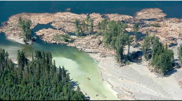 A tailings pond for the Mount Polley mine burst in August 2014 and spilled millions of cubic metres of waste water into Polley Lake - BIV Archives
