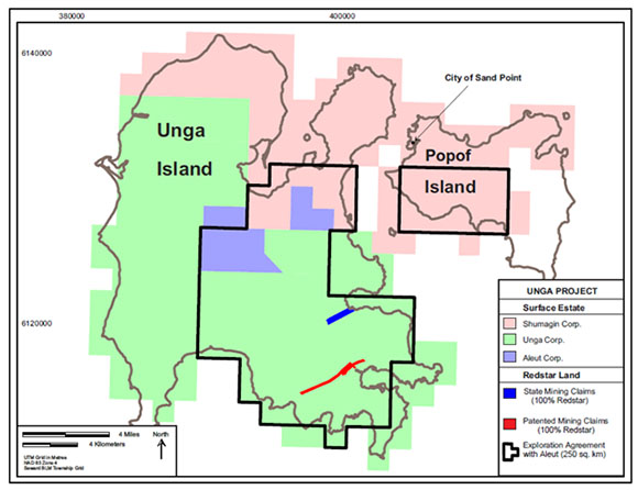 Redstar Gold's Ken Booth Discovers Formula for Success - Unga Project map