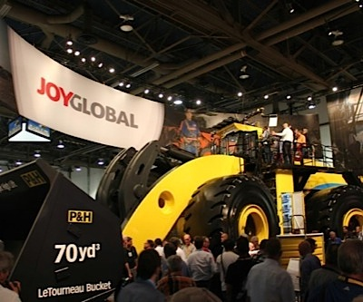 Joy Global swings to loss, cuts dividend