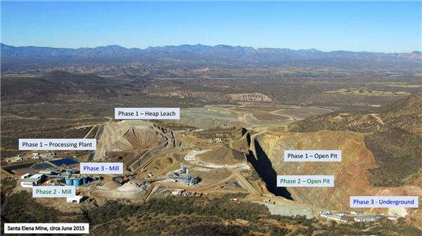Phased-approach to mine development - Santa Elena Mine