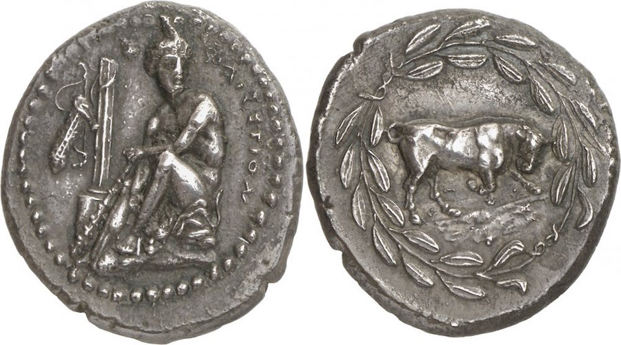 Rare Greek silver stater of Phaistos (Crete) by Ancient Medieval Arts & Numismatics on Flickr.