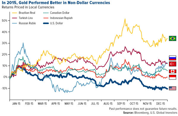 US Globals' Ralph Aldis - In 2015 Gold Performed Better in Non-Dollar Currencies