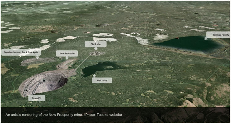 Taseko files action - New Prosperity mine photo