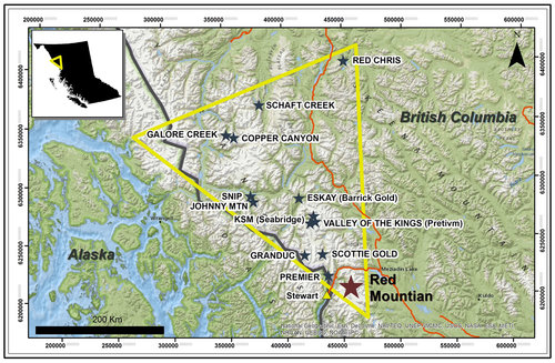 """A map of British Columbia's """"Golden Triangle"""" - IDM Mining Photo"""