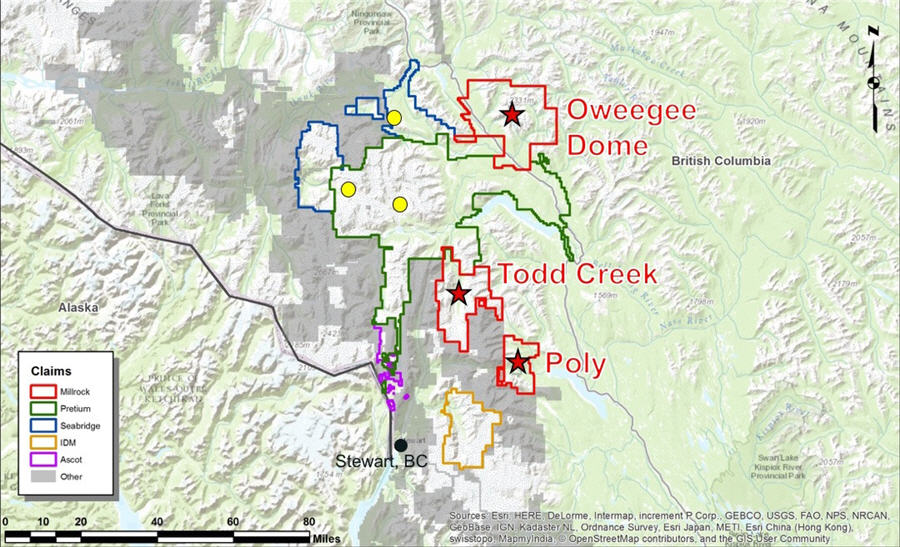 A revival takes shape in BC's Golden Triangle - Claims map