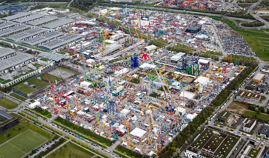 Aerial view of Bauma 2016. Photo courtesy of Messe Munchen.