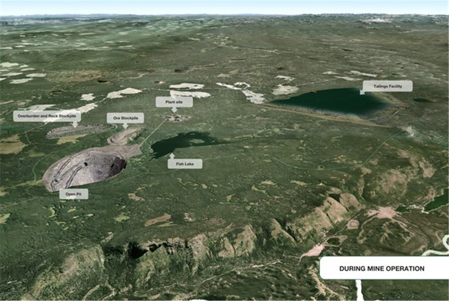 Taseko's New Prosperity mine project, which was rejected by the federal government L BIV archives