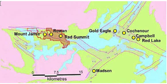 Goldcorp is back and spending - current and historic operations map
