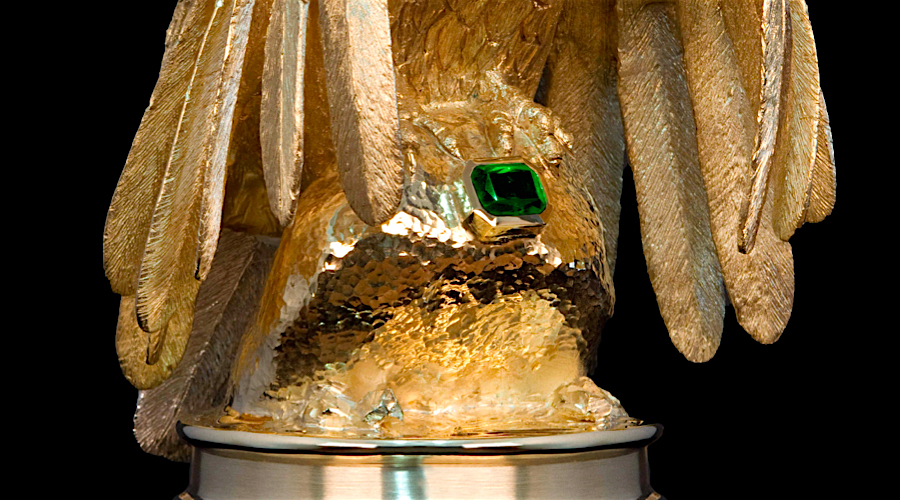 Someone stole this $5 million diamond-encrusted gold eagle statue