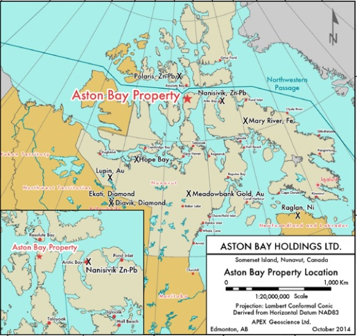 Chasing big copper in Canada's North - Aston Bay Holding Property Map