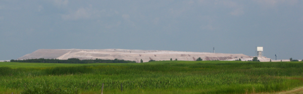 Source: goingeast.ca, Potash tailings dominating the skyline