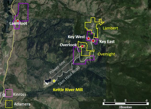 Potential of high-grade gold deposits draws Adamera to Washington - map