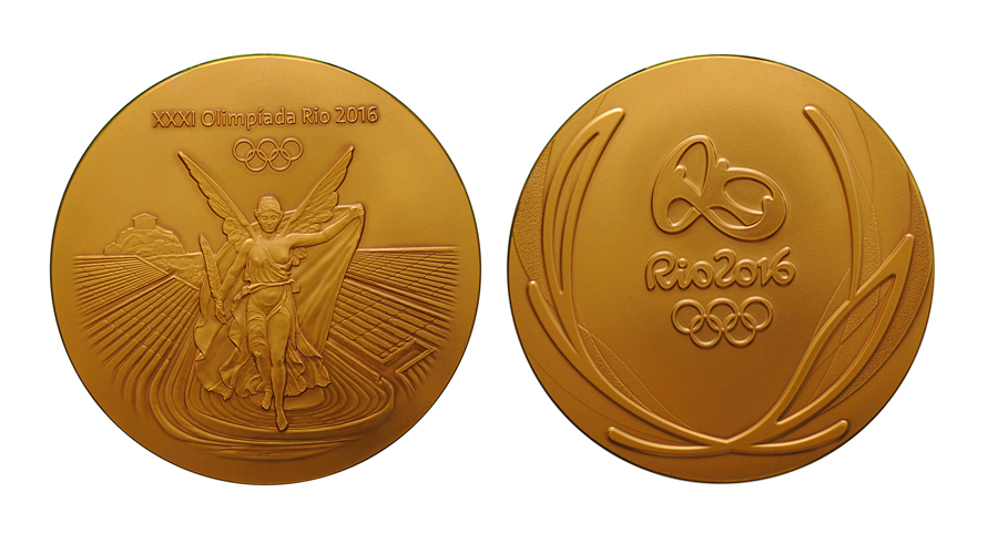 Brazil's 2016 Olympic medal has barely any gold on it