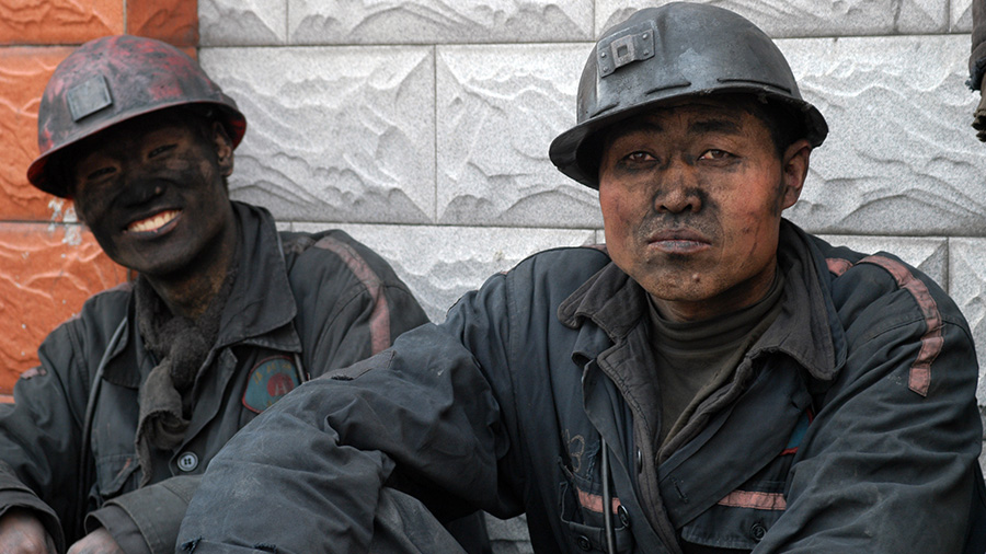 Chinese mine workers in Anhui, Huaibei, China. Growth in Chinese thermal coal imports will not last long