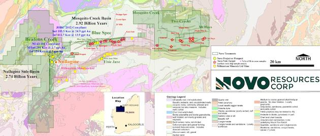 Nova Resources aims for high-grad gold Trifecta - map