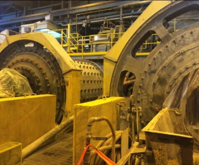 Site visit - Integra Golds's Lamaque Project - parts of the regrind circut at the Sigma mill
