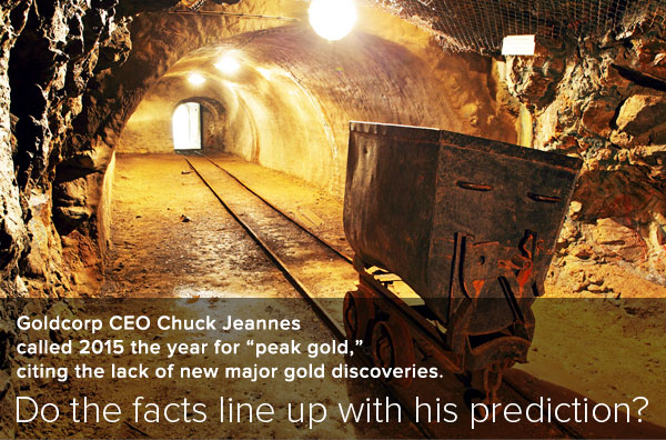 The last known gold deposit - mine