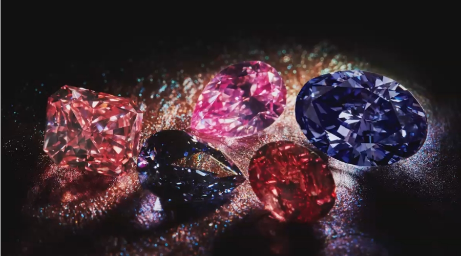 Rio Tinto's rare pink, red and violet diamonds showcased ...