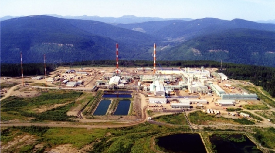 Spectras Pine River Gas plant located near Chetwynd
