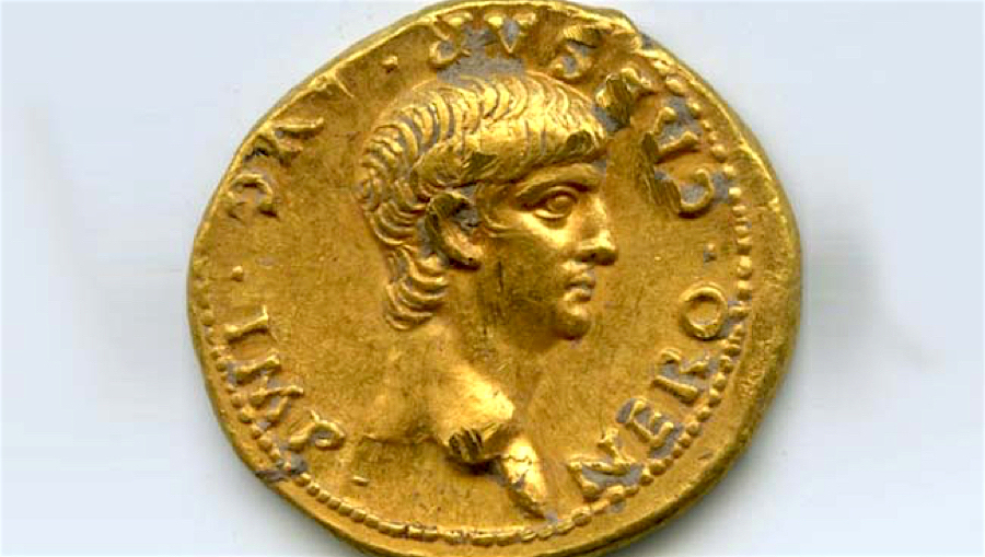 Archaeologists find this rare gold Roman coin in Jerusalem