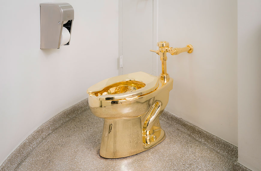 This 18-carat gold toilet can now be used at New York's Guggenheim Museum