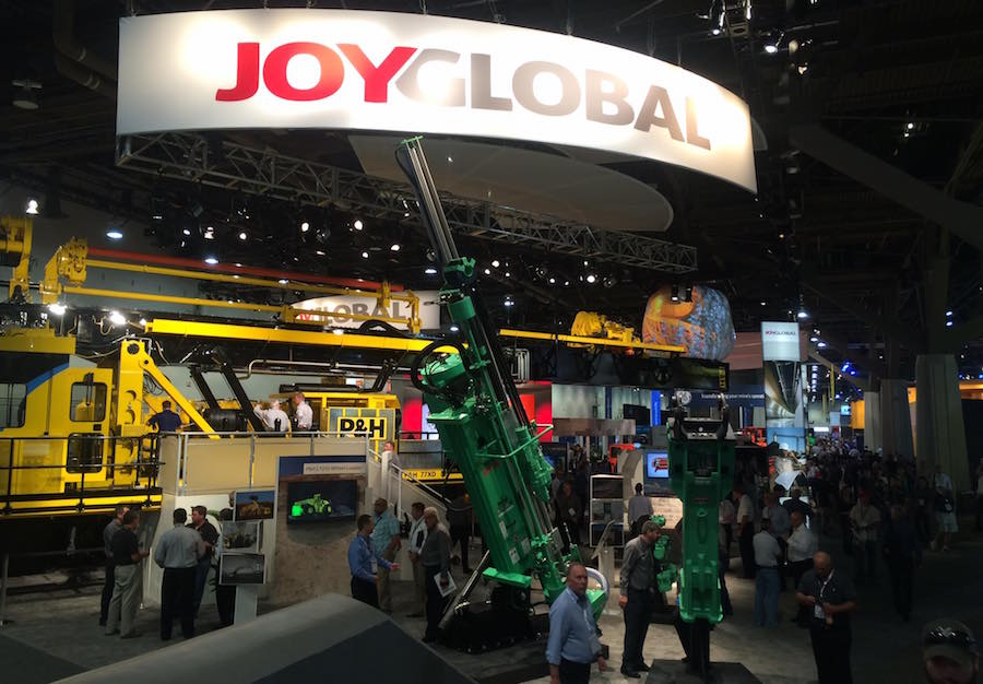 JoyGlobal's booth at MINExpo 2016 (Photo: Joy Global).