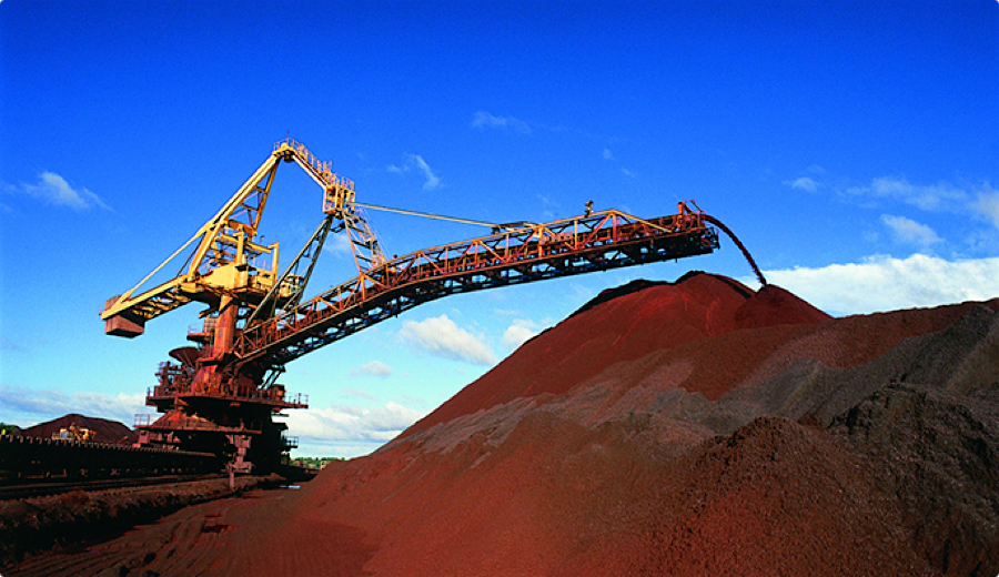 Iron ore price bounces back after sharp fall