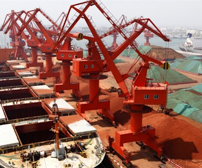Copper, iron ore prices gain on robust Chinese imports