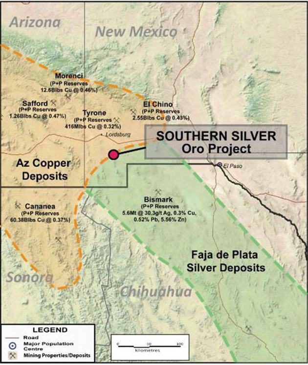 Southern Silver Oro Project Map V1 - MINING.COM