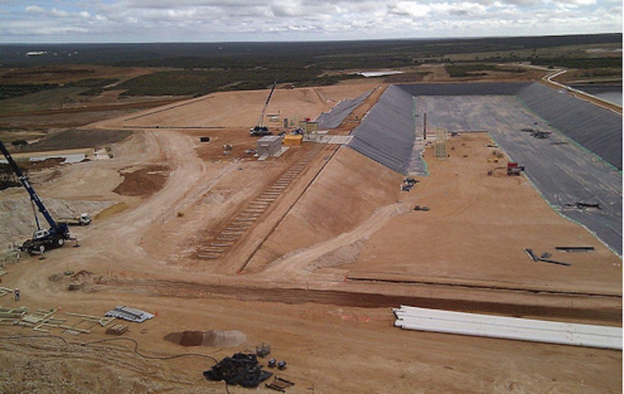 Image of buffer ponds at the Ravensthorpe nickel mine, courtesy First Quantum Minerals.