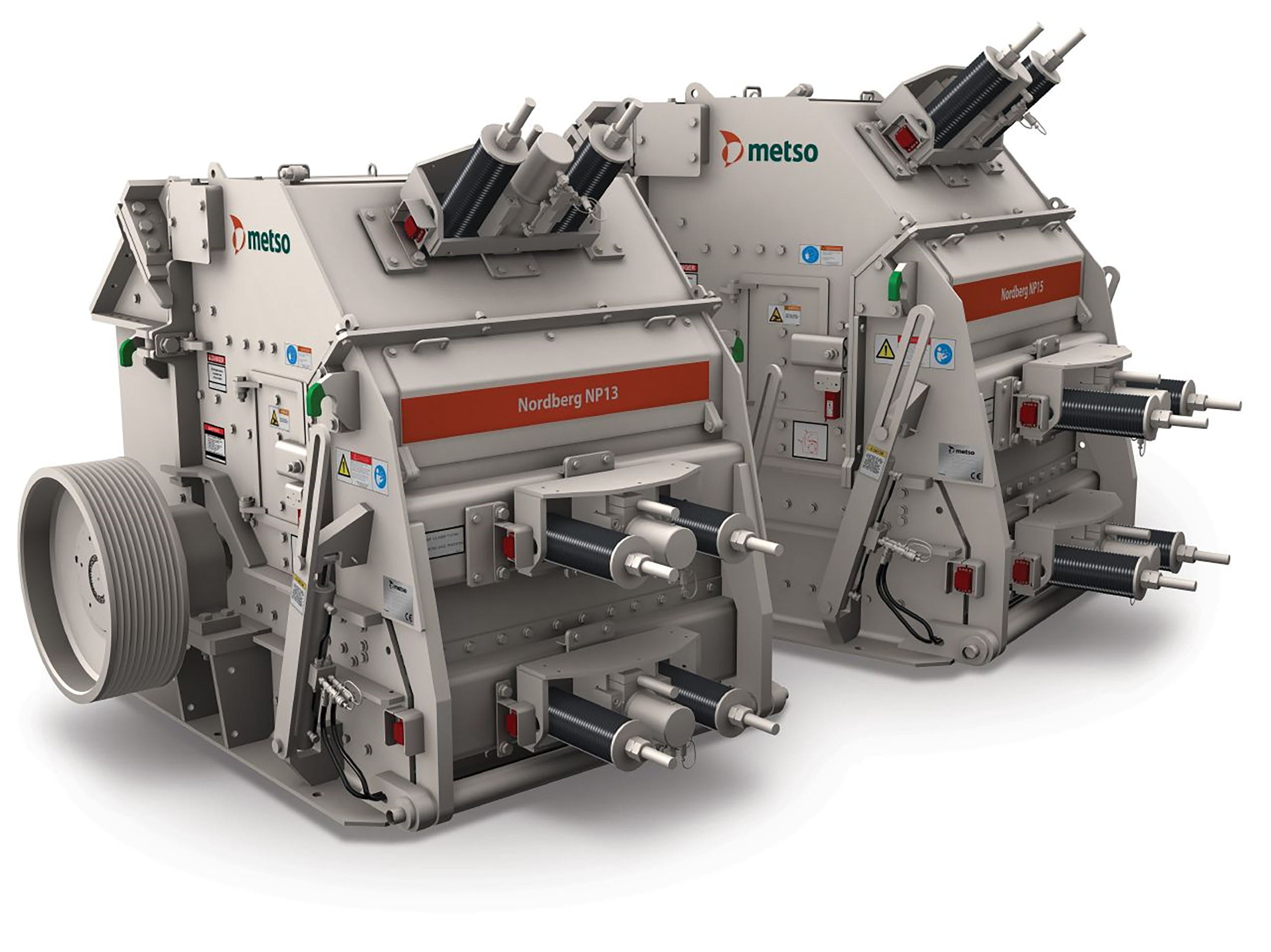 The Nordberg NP13 and NP15 impact crushers – two of the high-profile models in the Metso range of fixed crushers now being marketed in Ireland by McHale Plant Sales.