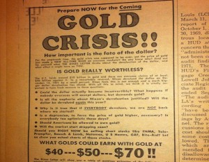 Three times the gold price collapsed