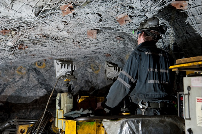 Morrison underground polymetallic mine, part of KGHM's Sudbury Operations. Source: kghm.com